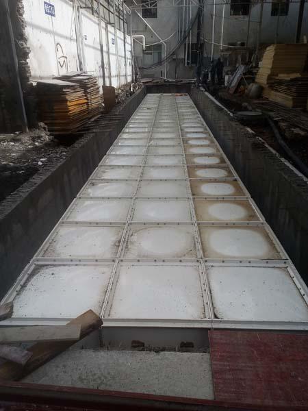 马尔康180立方SCM玻璃钢消防水箱工程案例